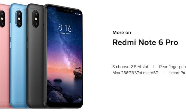 HP Xiaomi RAM 3GB Redmi Note 6 Pro
