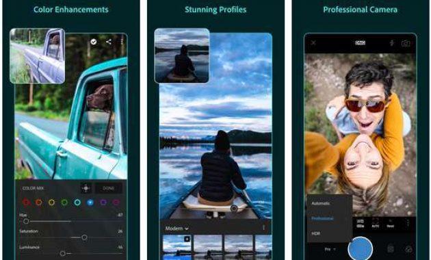 Aplikasi edit fotografer android terbaik Adobe Lightroom