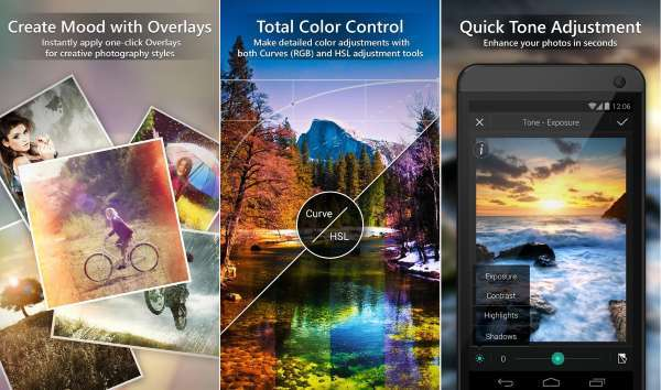 Aplikasi edit fotografer android terbaik Photodirector