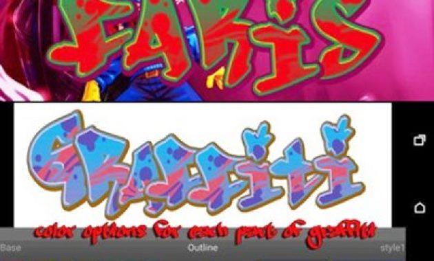 Aplikasi edit tulisan grafiti DIY Desain Graffiti