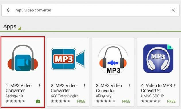 Cara mengubah video youtube ke mp3 di android