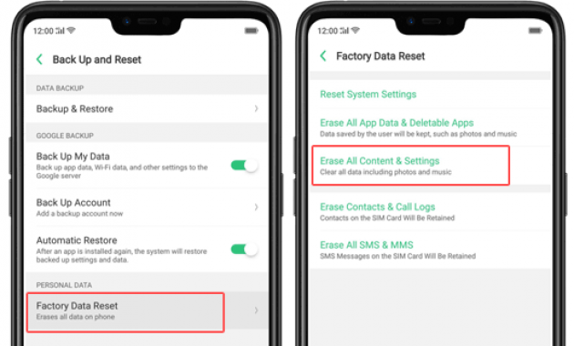 Cara reset hp oppo lupa password