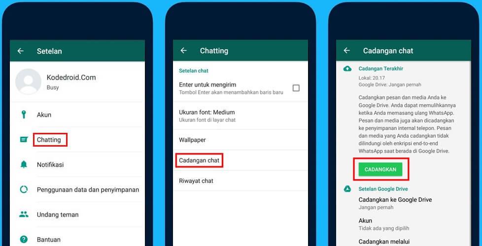 Cara memindahkan whatapp ke perangkat lain